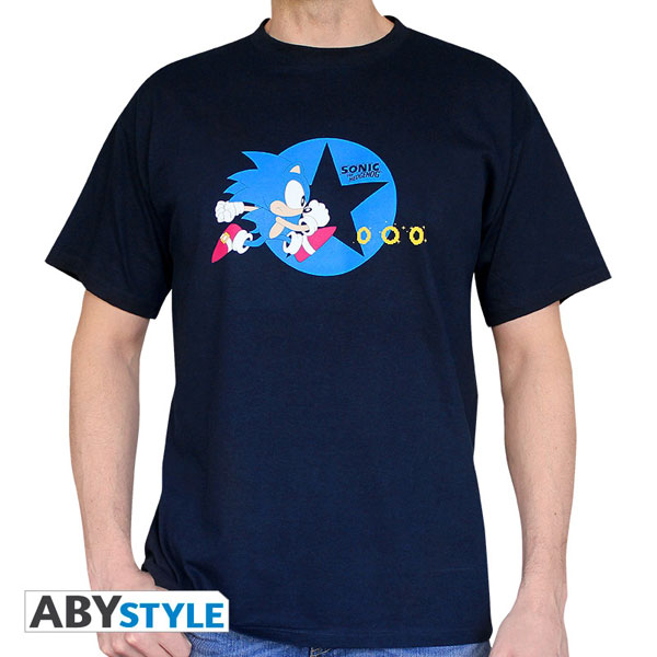 sonic sonic t shirt homme running abystyle. Black Bedroom Furniture Sets. Home Design Ideas