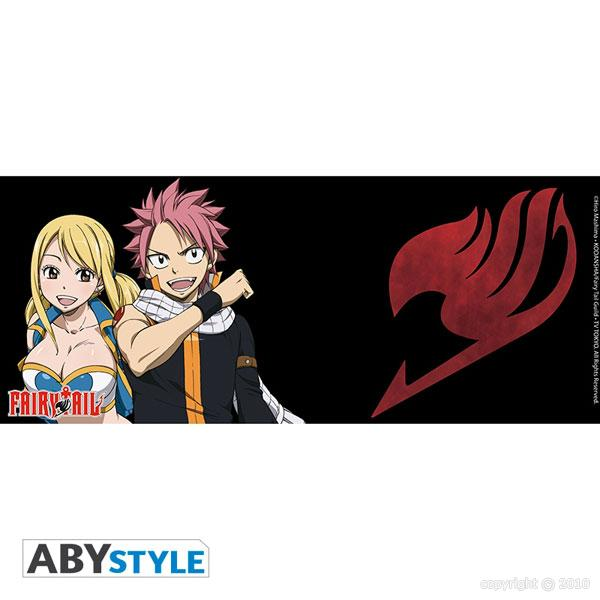 Fairy tail fairy tail mug fairy tail lucy natsu et embleme 460 ml abystyle - Embleme fairy tail ...