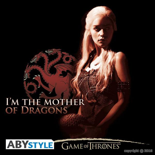 game of thrones game of thrones t shirt femme mere des dragons abystyle. Black Bedroom Furniture Sets. Home Design Ideas