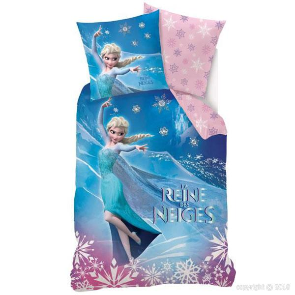 disney la reine des neiges parure de lit housse de couette elsa bleu rose 140 x 200 cm sahinler. Black Bedroom Furniture Sets. Home Design Ideas